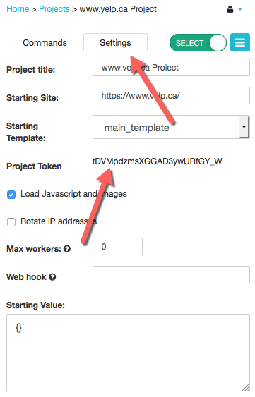 Access your API key & Project Token – ParseHub Help Center
